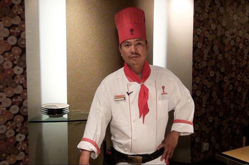 Benihana Chef Charlie Bueno interviewed by major TV channel in Philippines